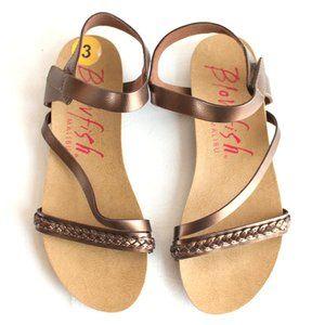 Blowfish Malibu Gablet Bronze Sandal Girls Size 3